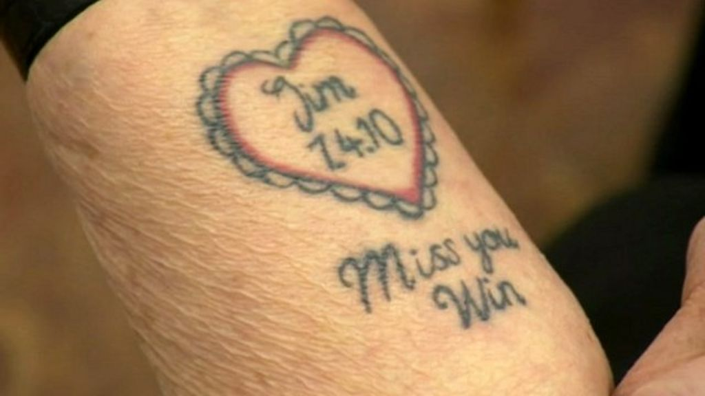 Woman 92 has tattoo for her husband bbc news for Blood poisoning tattoo