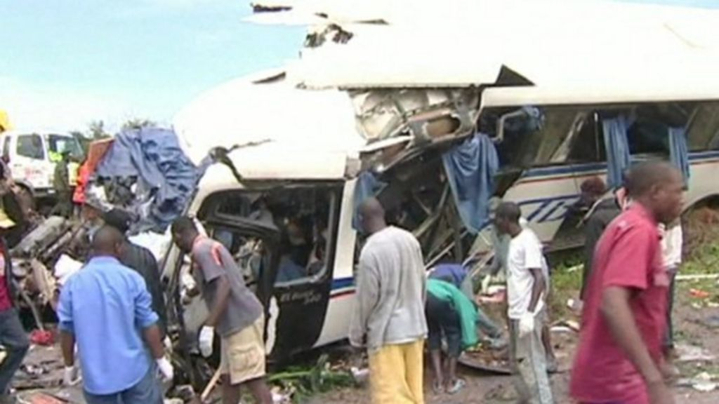 Police say at least 53 people were killed in the crash involving a bus and  a lorry