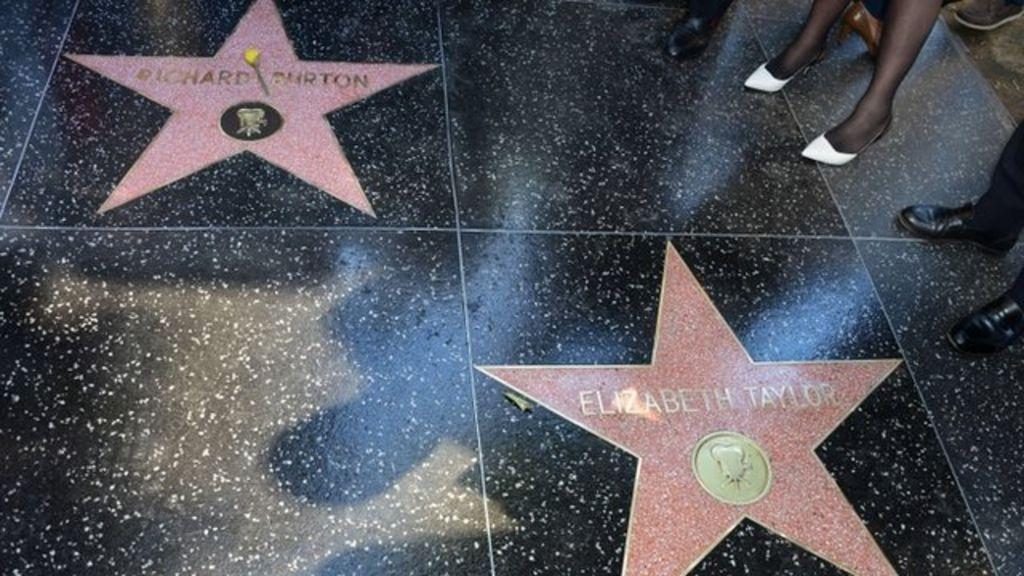Richard Burton Star Unveiled On Hollywood Walk Of Fame Bbc News