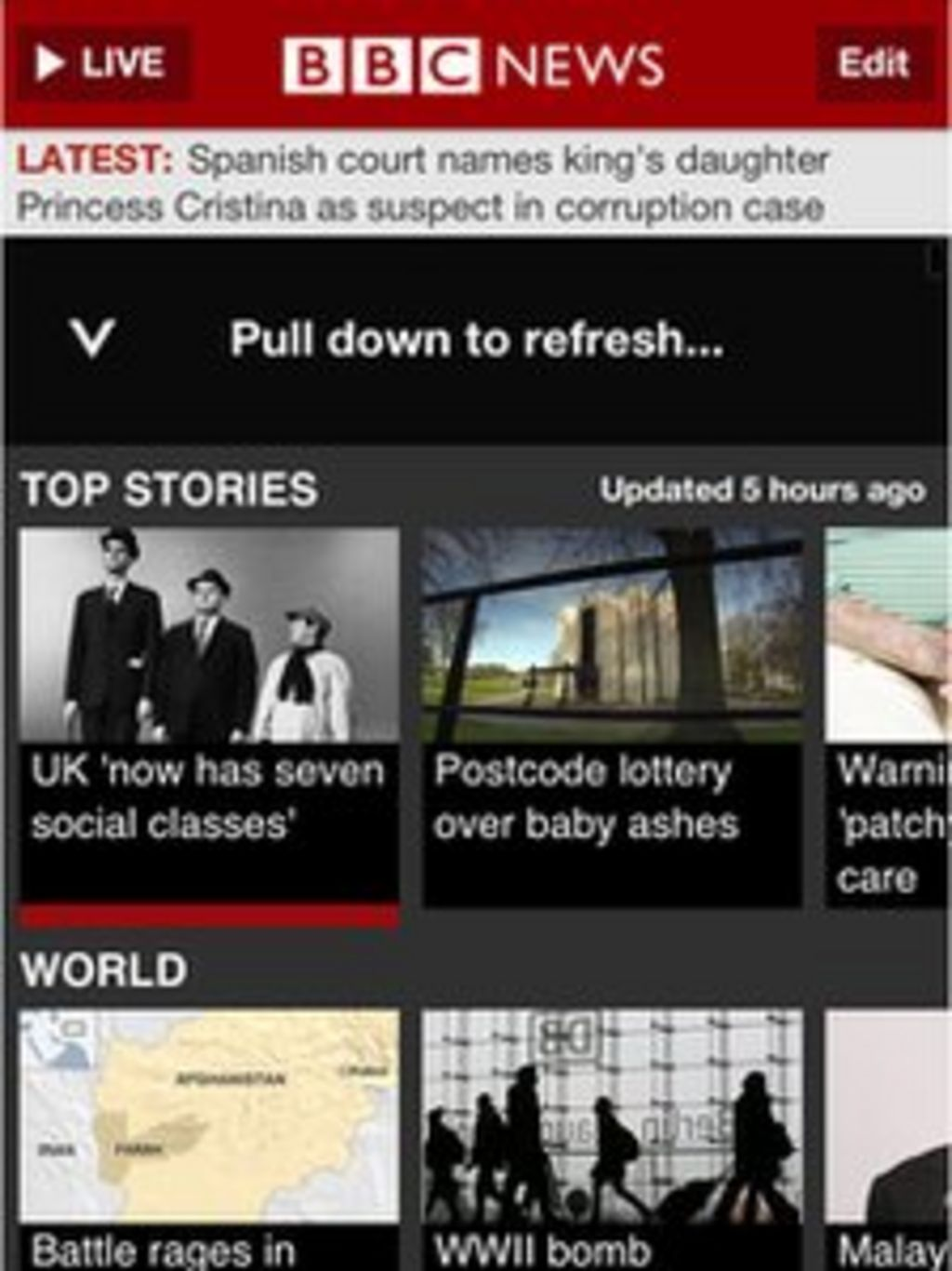 Your guide to the BBC News iPhone and iPad app - BBC News