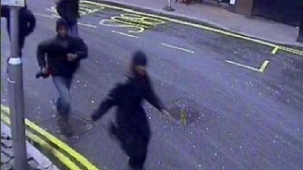 CCTV footage shows the gang of youths pursuing Sofyen Belamouadden