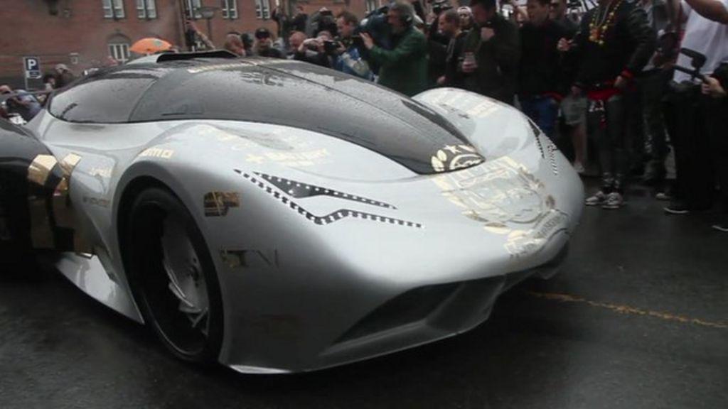 Gumball 3000 rally sets off from Copenhagen - BBC News