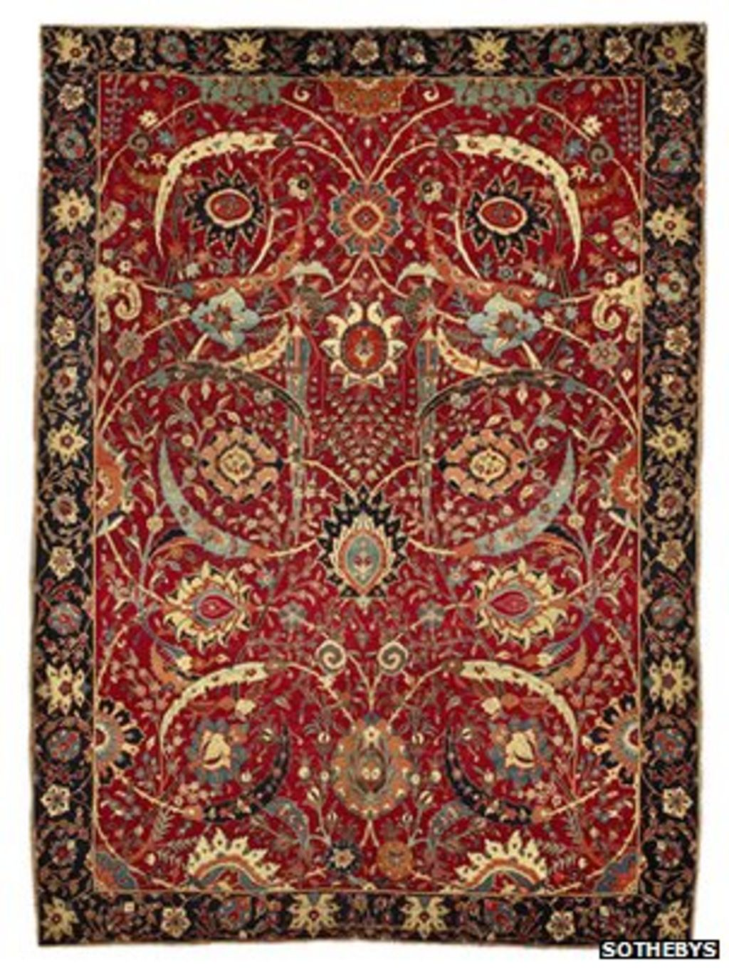 Persian Rug Sold At Auction For Record 33 8m Bbc News