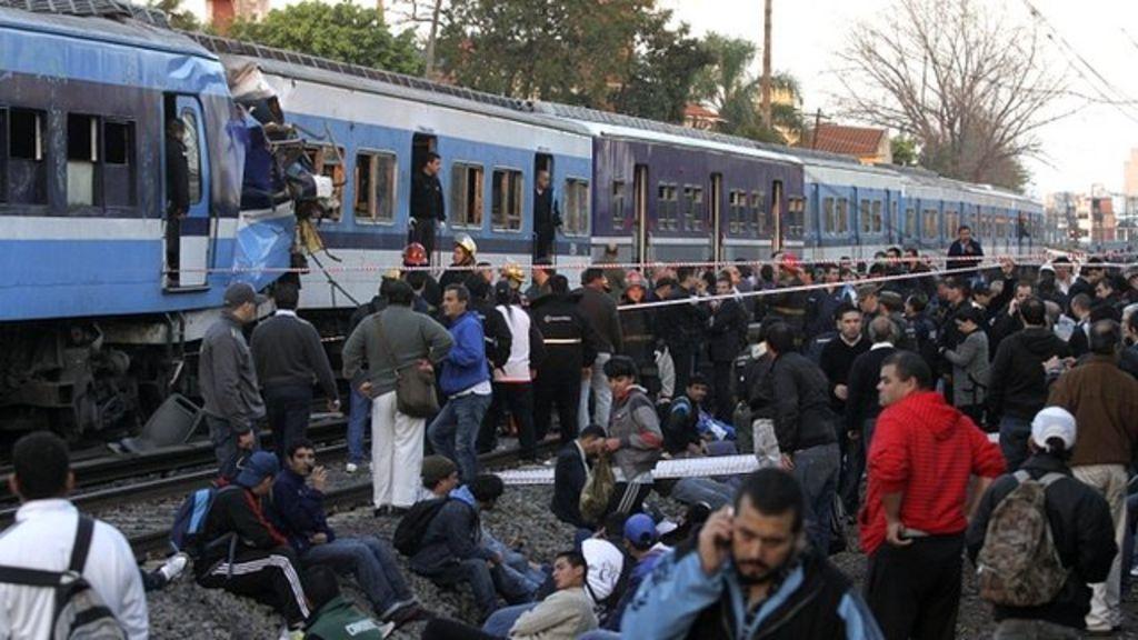 Train crash in Argentina