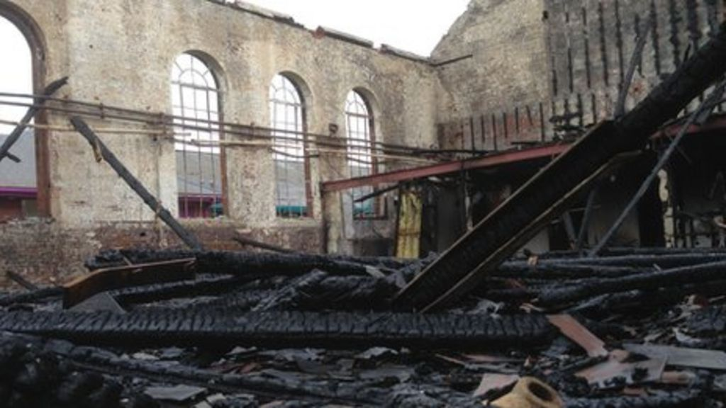 Colchester Garrison Derelict Pool Damaged By Fire Bbc News