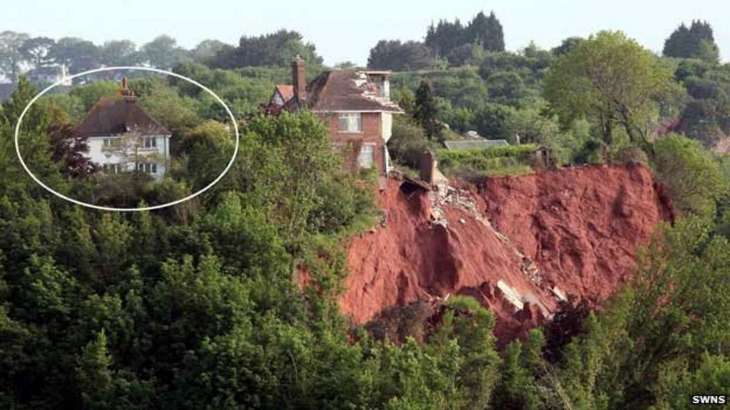 33 500 for uninhabitable cliff house in torquay bbc news. Black Bedroom Furniture Sets. Home Design Ideas
