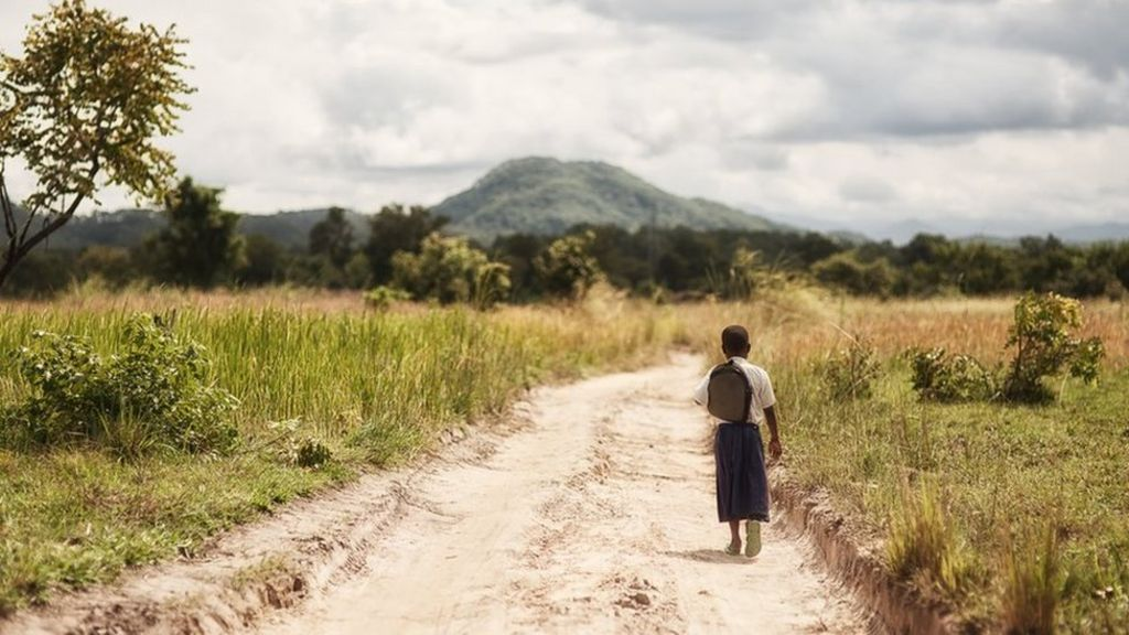 In pictures: Tanzanian girl's long walk to education - BBC News