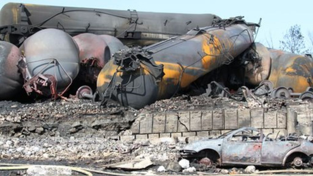 Lac-Megantic: The runaway train that destroyed a town - BBC News