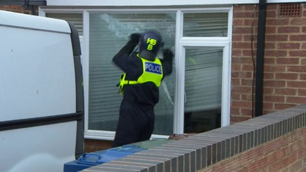 The operation involved more than 100 officers across 17 properties