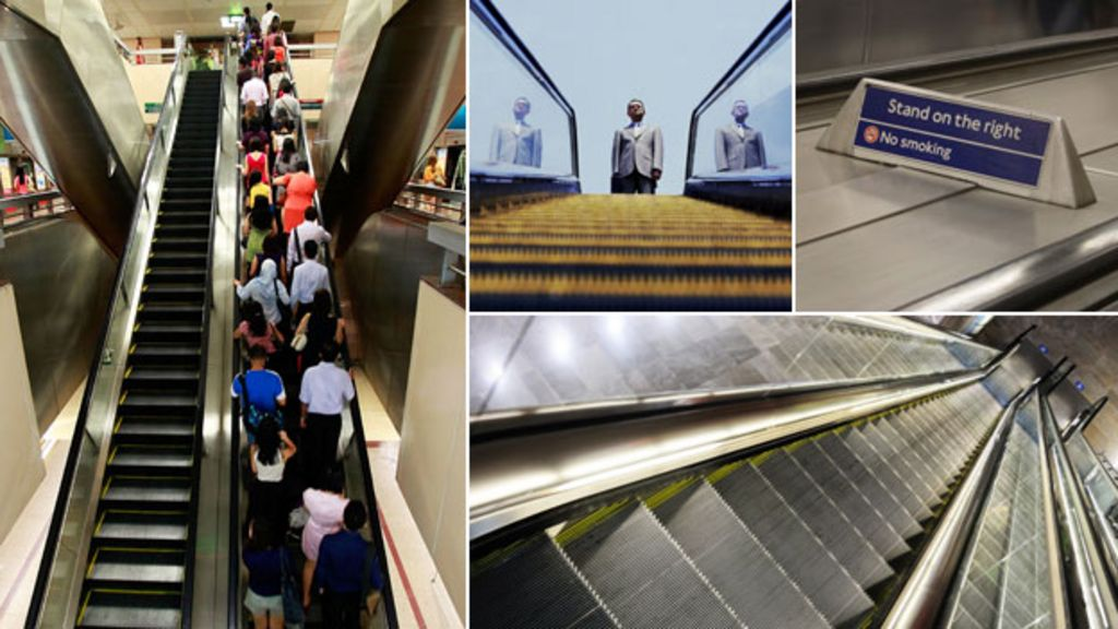 Escalator etiquette: The dos and don'ts - BBC News