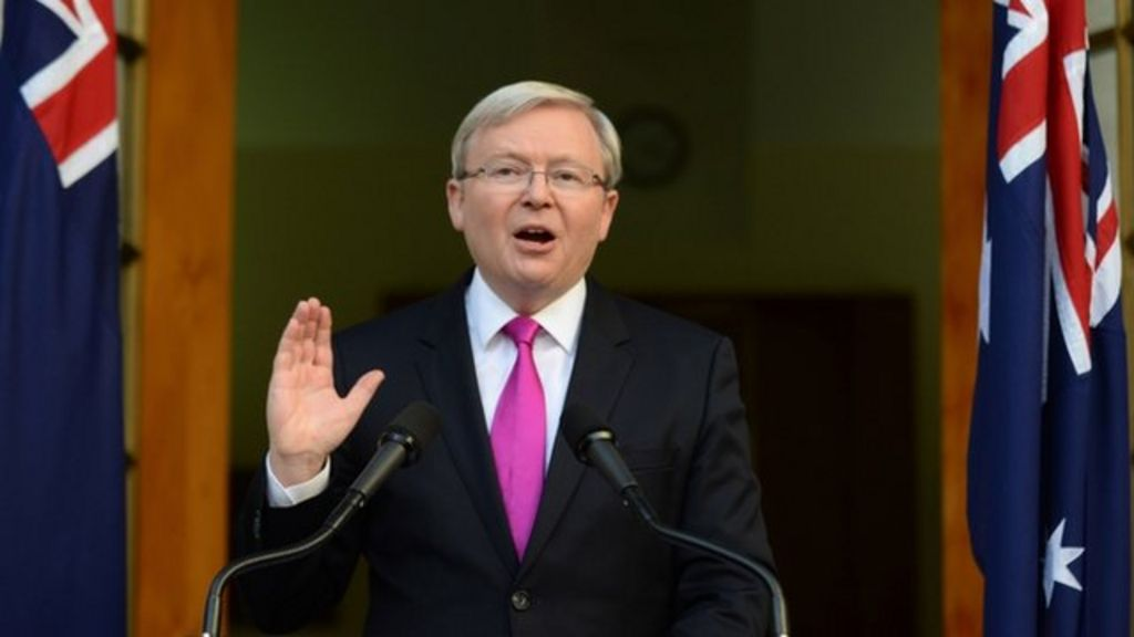 Australian Pm Kevin Rudd Calls September Election Bbc News
