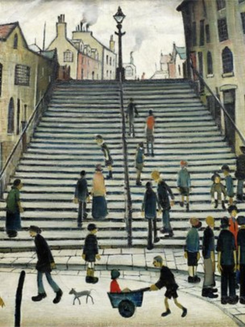 ls lowry painting steps at wick to be auctioned