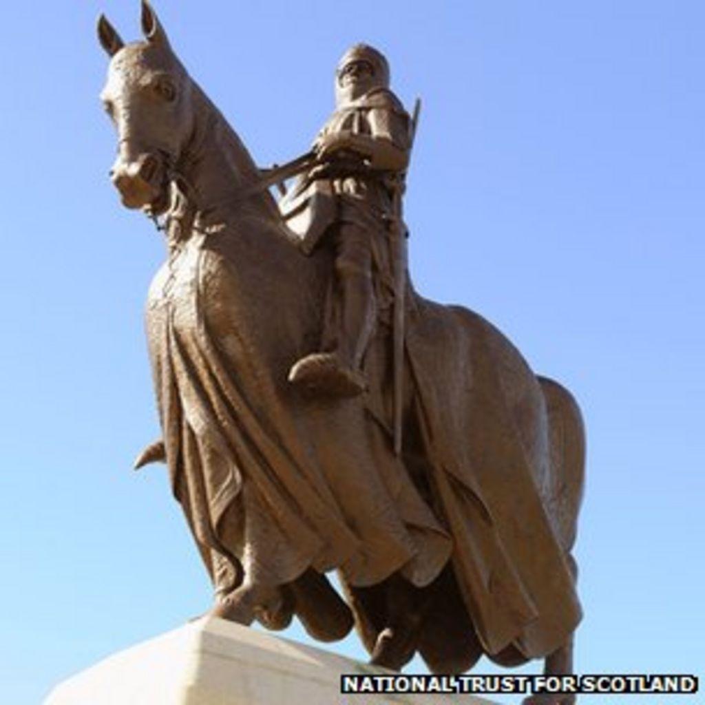 robert the bruce statue returned to bannockburn battle