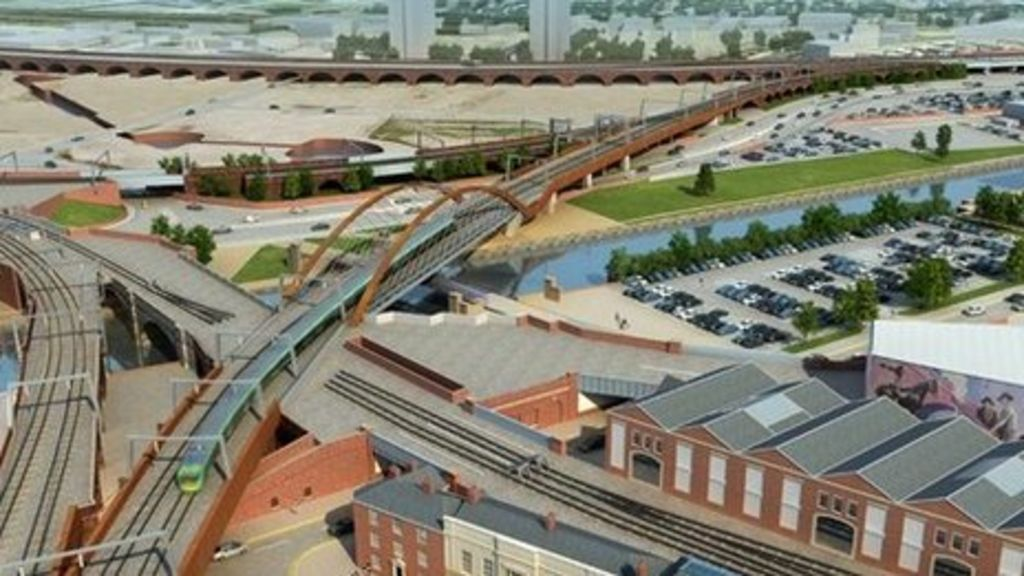 Drawing of the Ordsall Chord