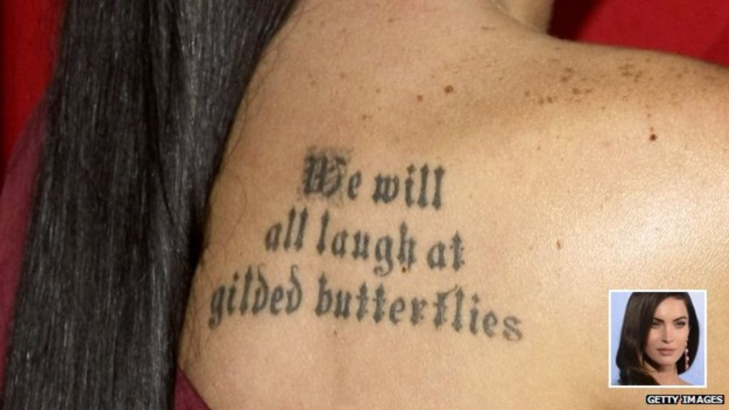 The Rise Of The Text Tattoo Bbc News