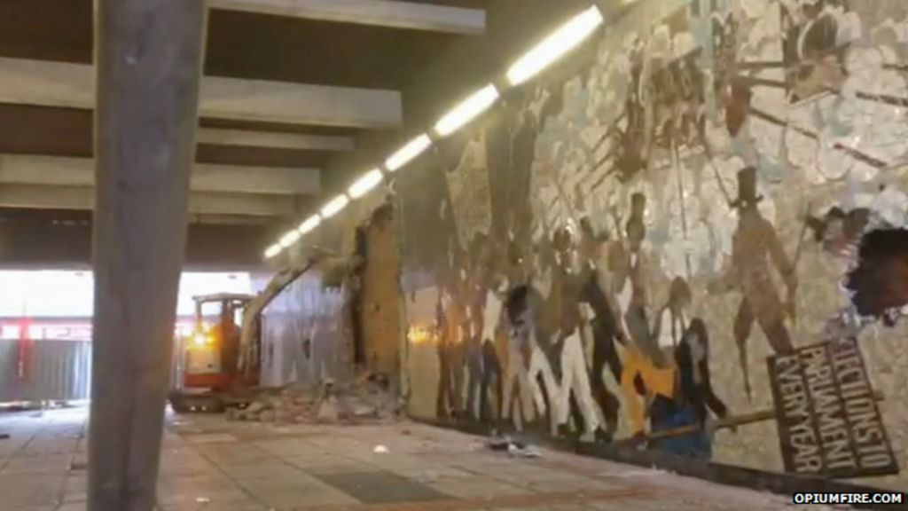 Footage from a photographer as demolition work started
