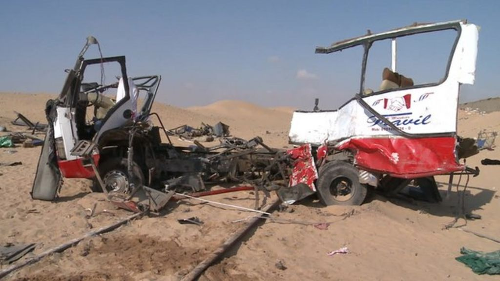 Scene of crash near the village of Dahshur