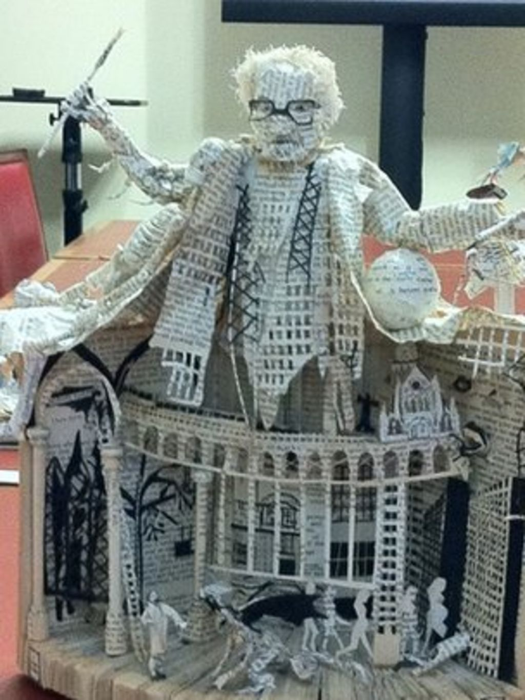 mystery book sculptures to go on display at the national