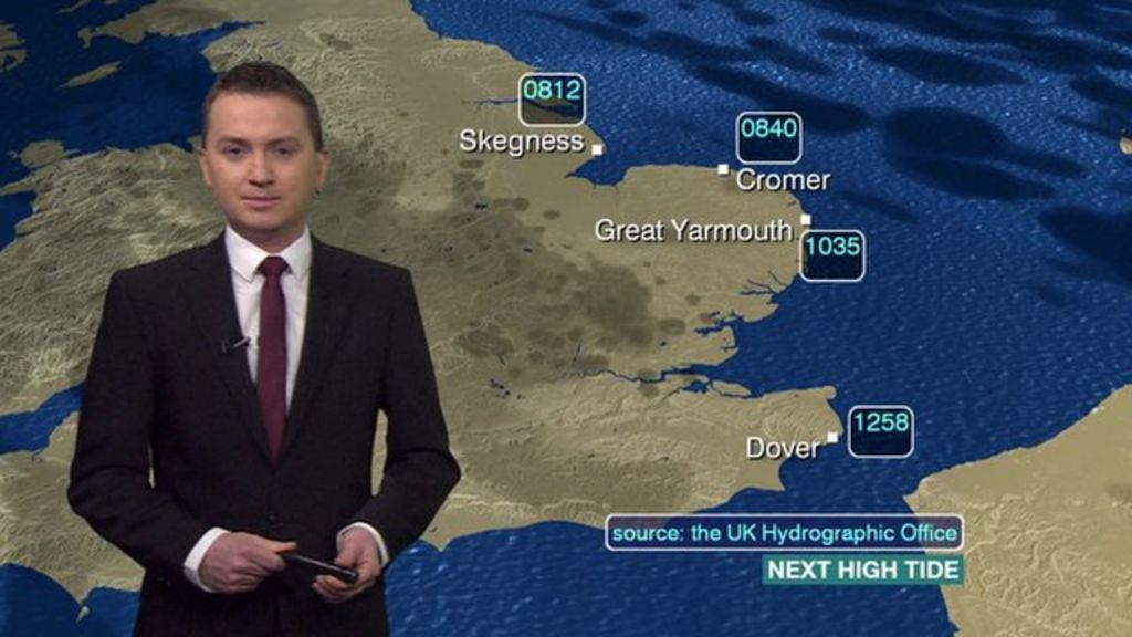 English news report about weather