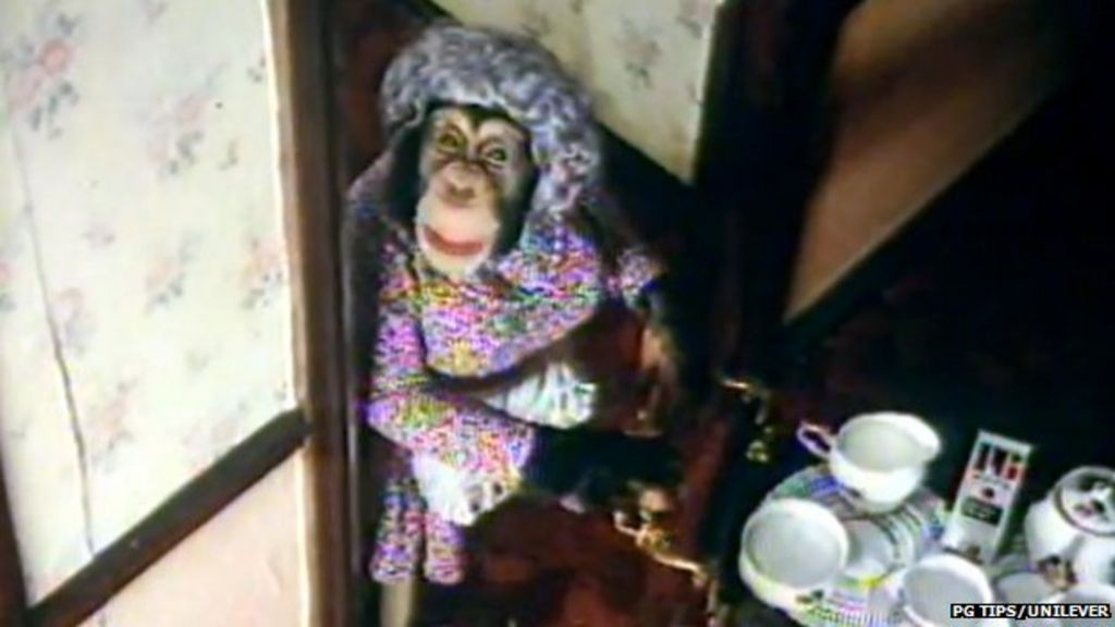 Pg tips chimp adverts