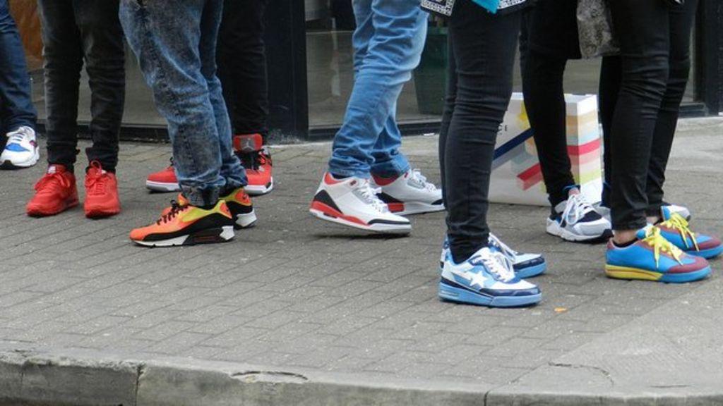 7e19ba35c7f9 Sales feat  Sneakerheads fuel second-hand  kicks  boom - BBC News