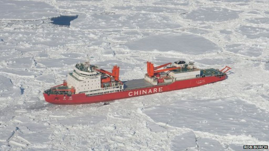 Antarctic rescue: Chinese ship Xue Long 'stuck in ice' - BBC