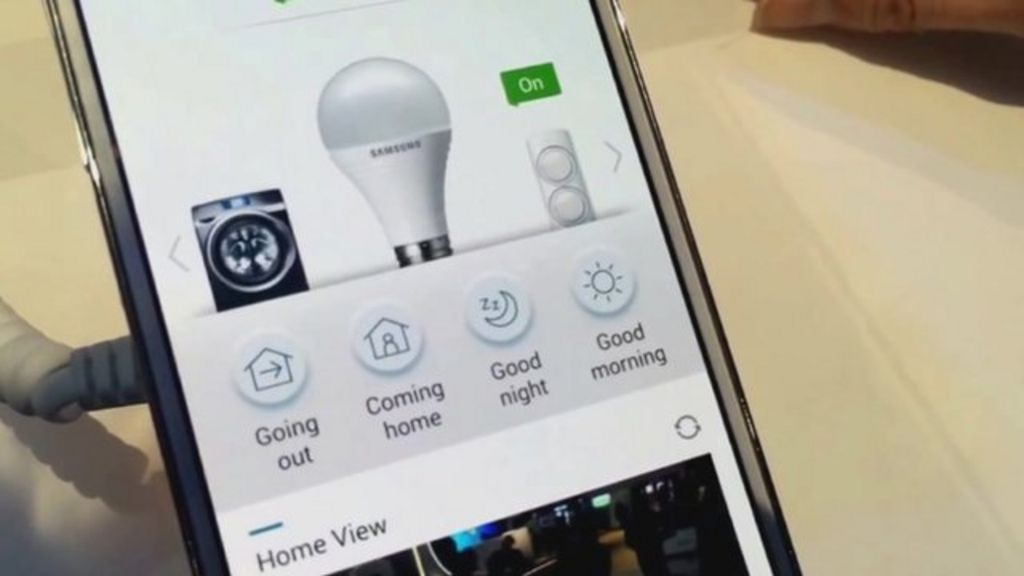 ces 2014 how samsung 39 s smart home app works bbc news. Black Bedroom Furniture Sets. Home Design Ideas