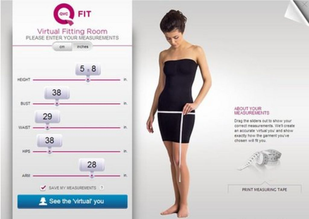 Fits.me virtual fitting room creates a mannequin to your sizes. Shoppers  can then e9b6874a5