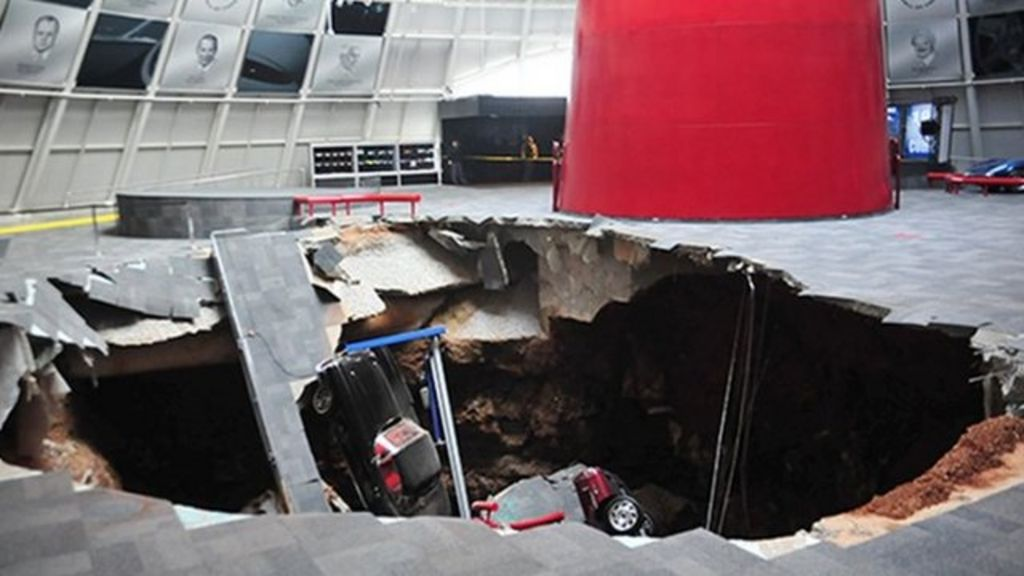 US Sinkhole Swallows Corvettes At Car Museum