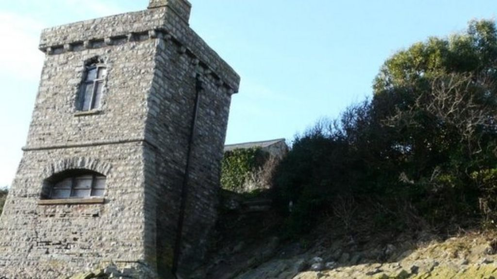 Historic watchtower up for sale at Cold Knap, Barry - BBC News