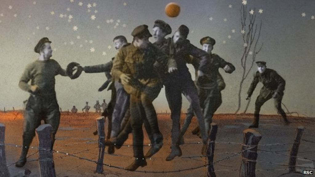 the christmas truce war play opens at royal shakespeare theatre bbc news - Wwi Christmas Truce