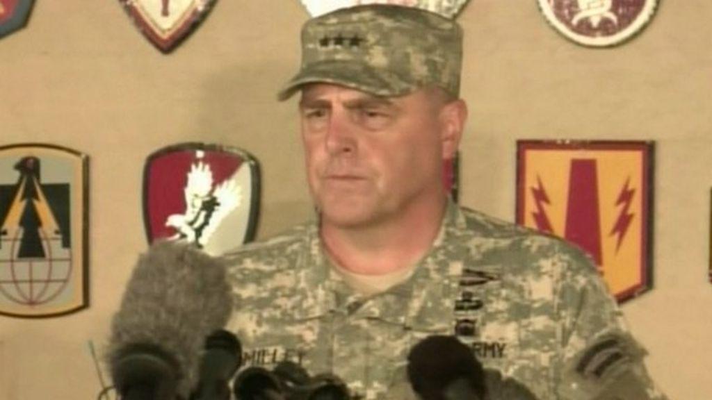 Lt Gen Mark Milley describes the final moments before the gunman shot  himself