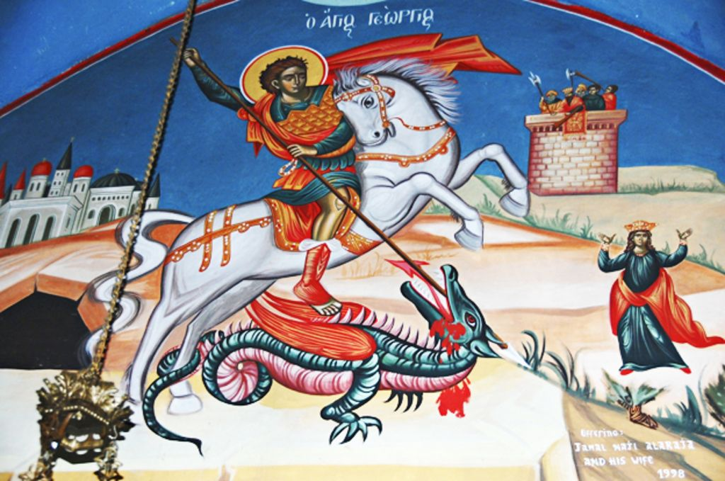 why st george is a palestinian hero bbc news. Black Bedroom Furniture Sets. Home Design Ideas