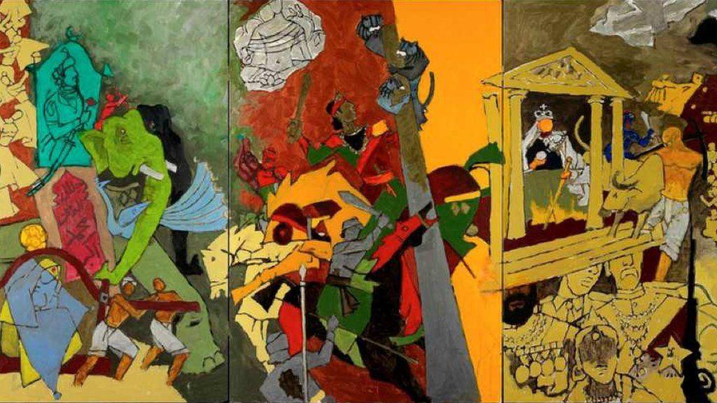 MAQBOOL FIDA HUSAIN (1913-2011), Untitled (Woman at Work