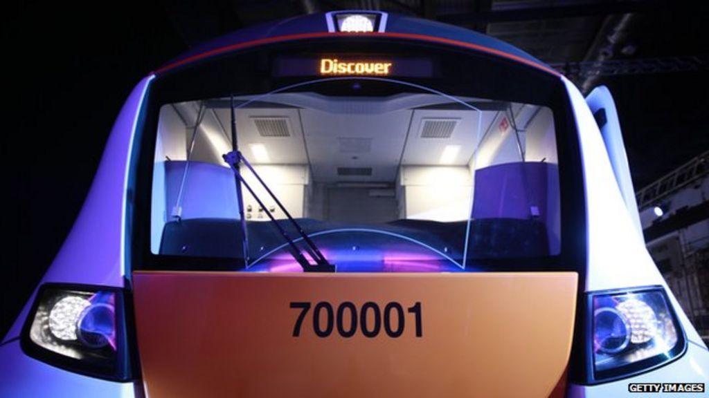 Mock-up of new Thameslink train