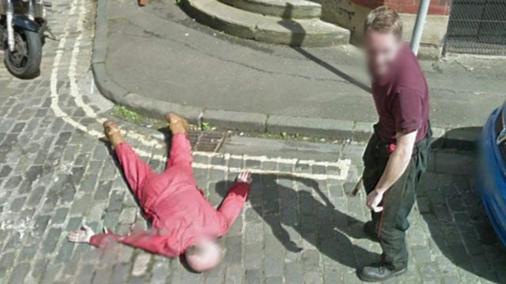Garage owner fakes Google 'murder' in Edinburgh street - BBC News on