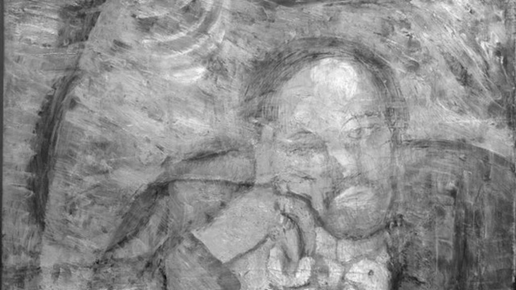 Hidden painting found under Picasso\'s The Blue Room - BBC News