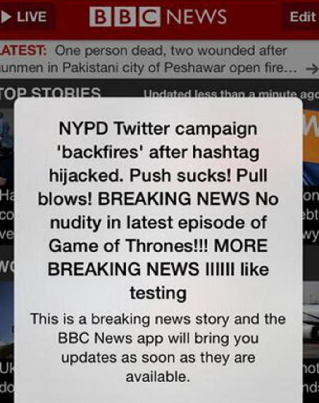 BBC apologises after news alerts sent in error - BBC News