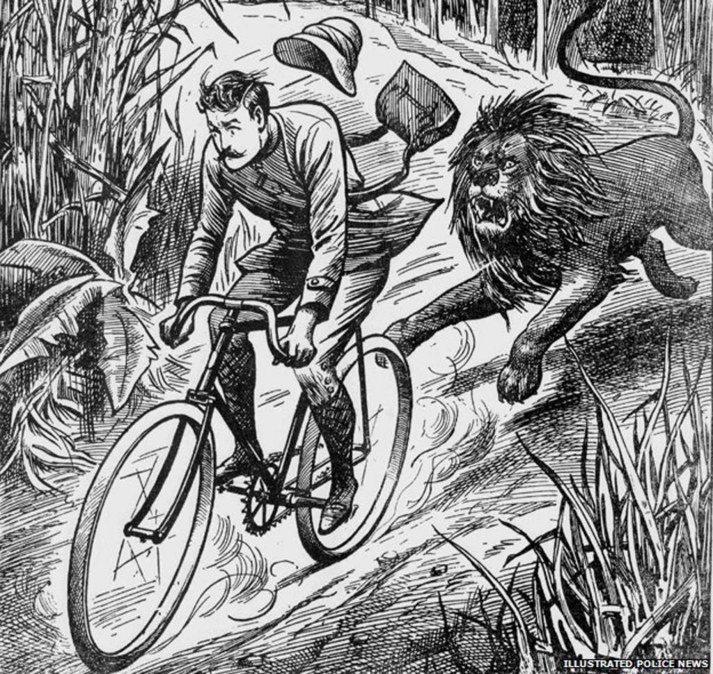 Colorado News: Victorian Strangeness: The Cyclist Chased By A Lion