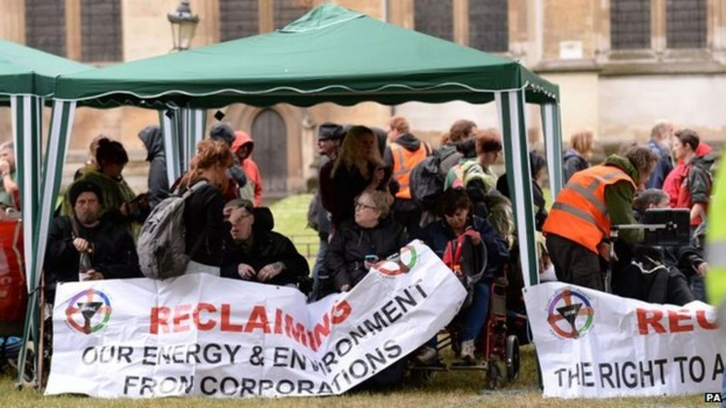 Independent Living Fund Protest Takes Place At Westminster