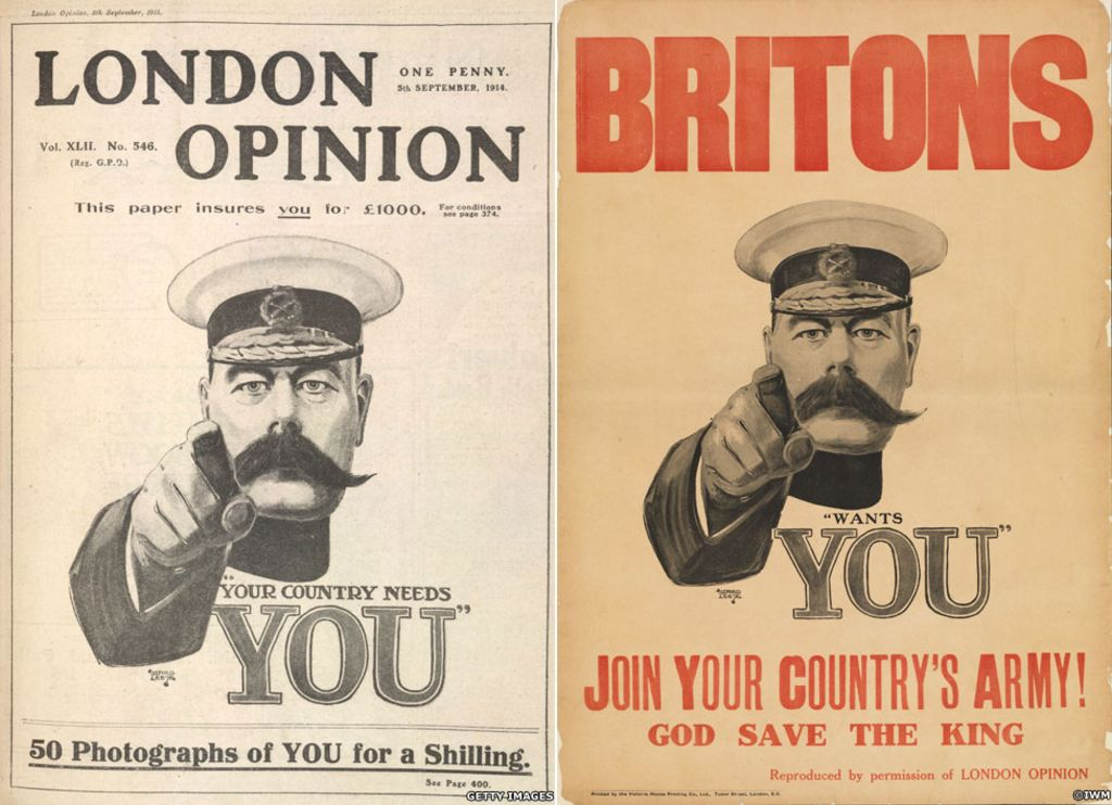 """WWI British Army Recruiting Poster /""""Enlist Today/"""" Britain Military War National"""
