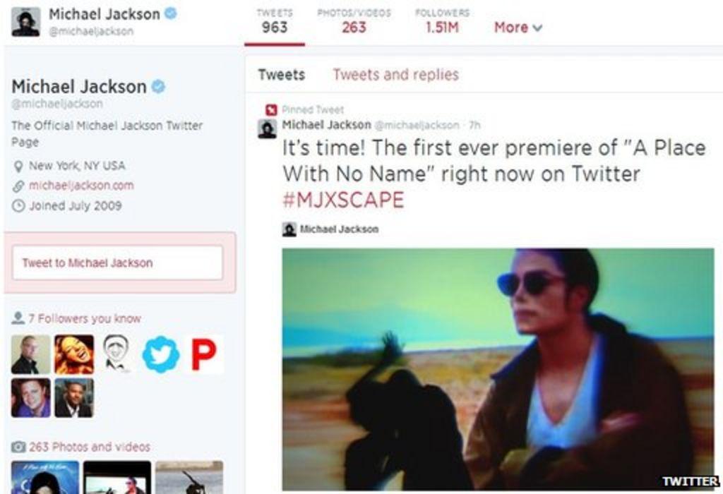 Bbc News Twitter: Michael Jackson Music Video Premiered On Twitter