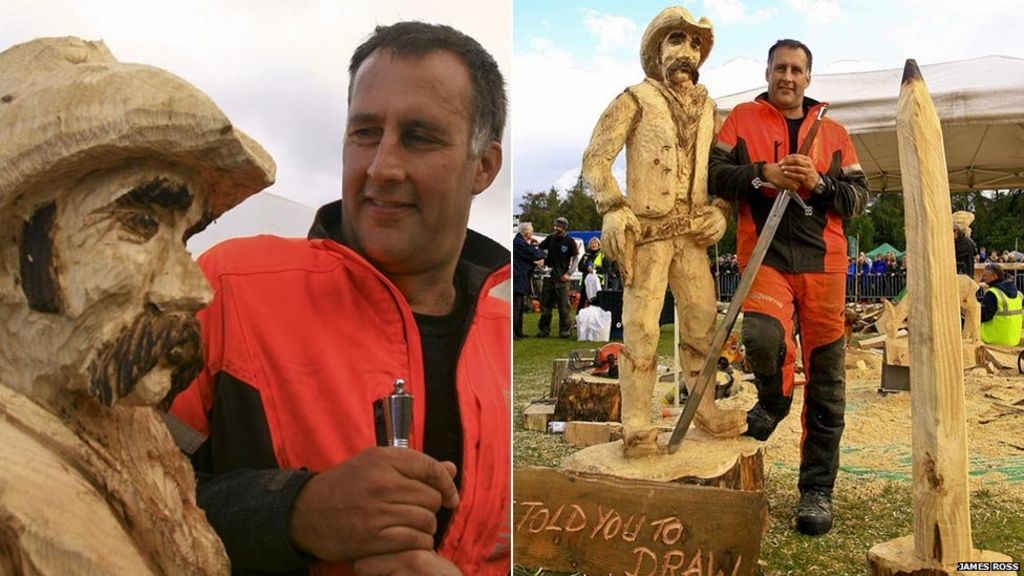 Wood work images from carrbridge s chainsaw contest bbc