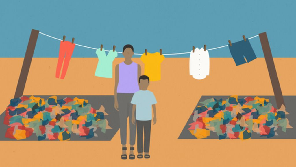 How charity clothing donations end up traded abroad