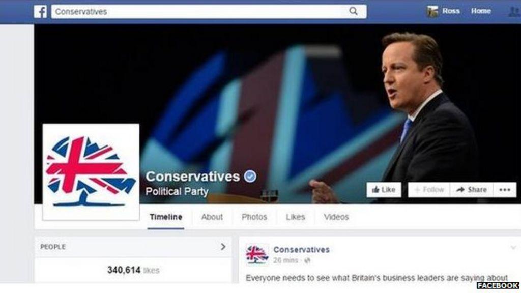 Bbc News Facebook: Tories' £100,000 A Month Facebook Bill