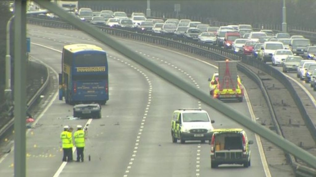 The BBC's Rebecca Williams says motorist have been advised to seek  alternative routes