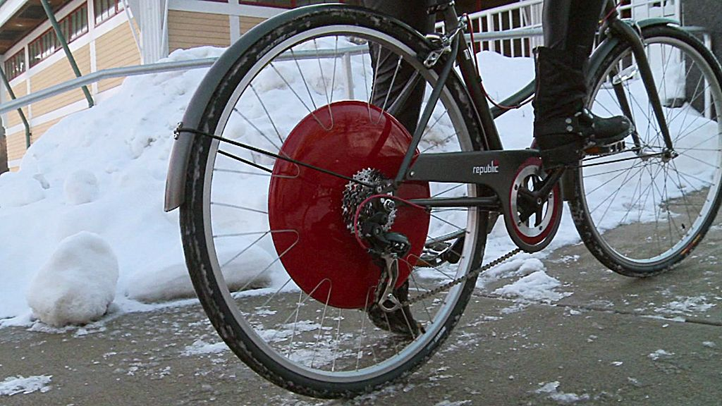 The Wheel Giving Cyclists An Extra Push Bbc News