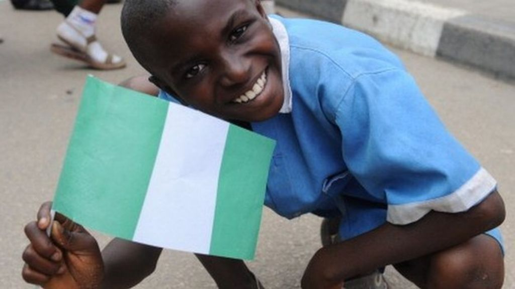 Image result for nigerian flag child