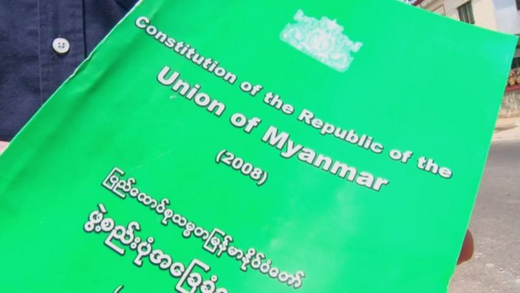 Myanmar faces fight over constitution - BBC News