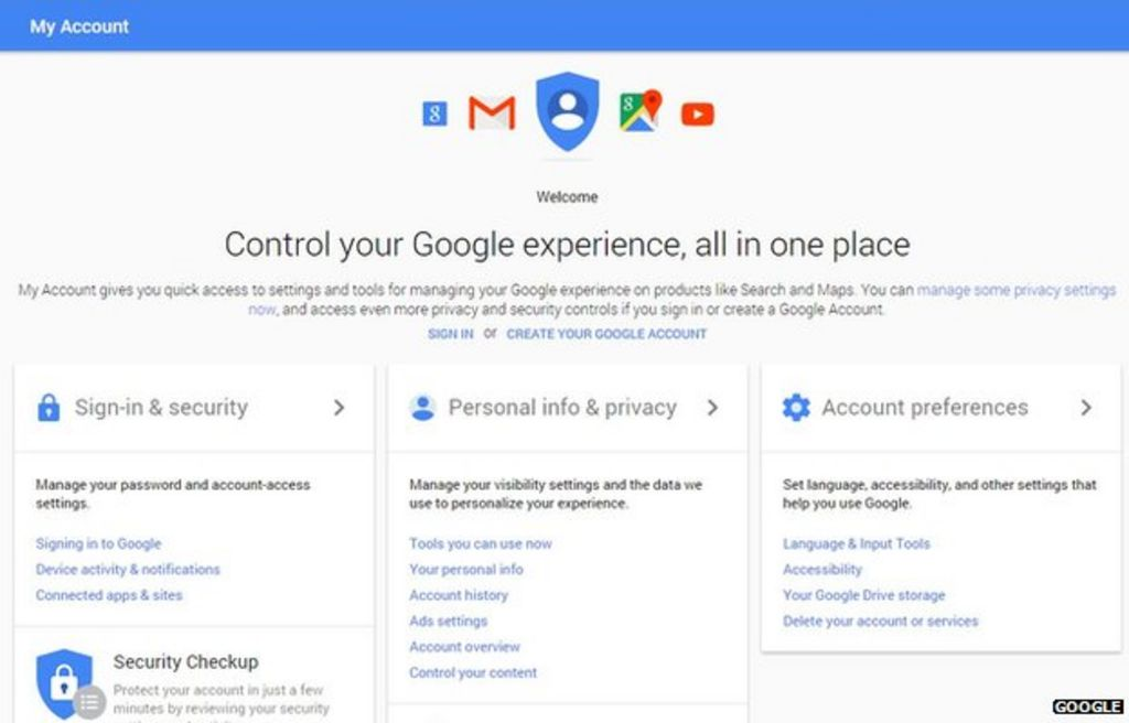Google overhauls privacy and security settings - BBC News